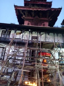 OurGlobalLove.com-- Structural bracing in Durbar Square