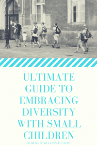 Examine the ways to integrate diversity into your daily lives so that children learn to accept others that are different than themselves.